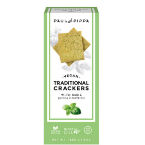 Vegan Crackers with Basil