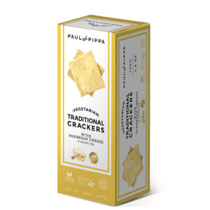 Vegan Crackers with Parmesan Cheese