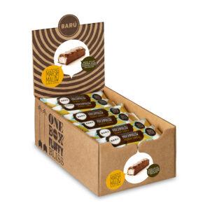 Marshmallow Bar Milk chocolate & Crunchy Display